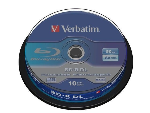 Verbatim BluRay BD-R DUAL LAYER [ Spindle 10| 50 GB | 6x