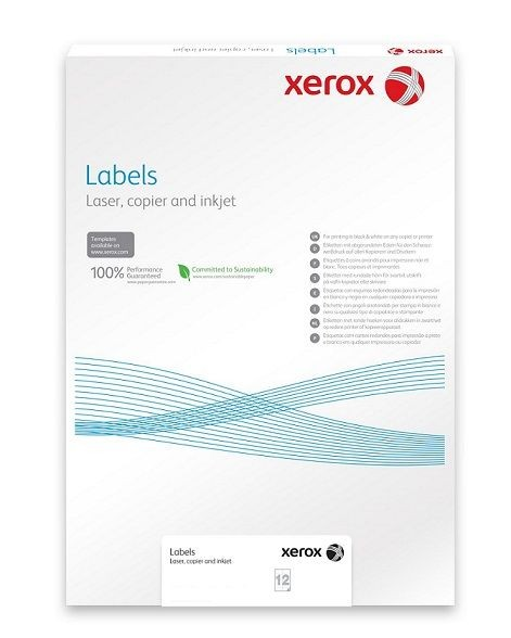 Xerox Plastový samolepicí materiál Xerox PNT Label - Matt White A4 (236g/50 listů, A4)