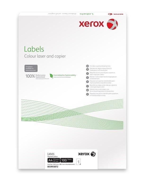 Xerox Papír štítky - barevný digitální tisk - Colotech SuperGloss (100 listů, A4)