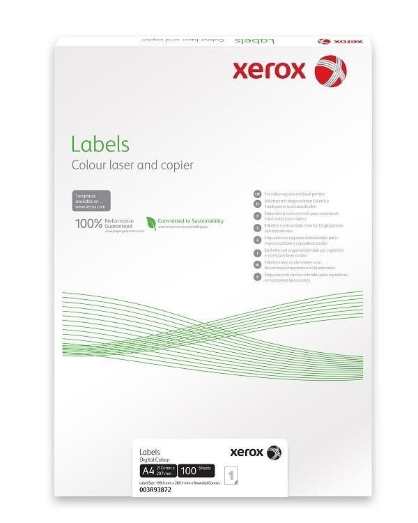 Xerox Papír štítky - barevný digitální tisk - Colotech (250 listů, SRA3)