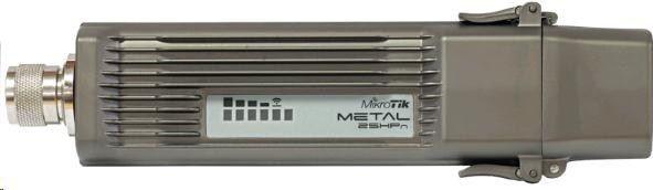 MikroTik Metal 2 with N-male connector, Super High Gain Single Chain 2.4GHz 802.11bgn wireless, 400MHz CPU, 64MB RAM, 1xLAN, PSU, POE