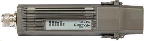 MikroTik RouterBOARD Metal 5, 400MHz CPU, 64MB RAM, 1x LAN, integ.5GHz Wi-Fi, 802.11a/n, vč. L4 licence