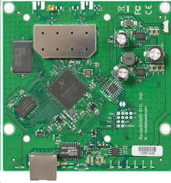 MikroTik RouterBOARD 911 Lite5, 600MHz CPU, 64MB RAM, 1x LAN, integr. 5GHz Wi-Fi, vč. L3 licence