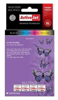 ActiveJet Tusz ActiveJet AB-M1000R | Czarny, Cyan, Magenta, Yellow | 25 ml/ 3x12 ml | Brot
