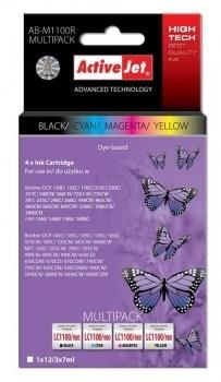 ActiveJet Tusz ActiveJet AB-M1100R | Czarny, Cyan, Magenta, Yellow | 12 ml/ 3x7 ml | Broth
