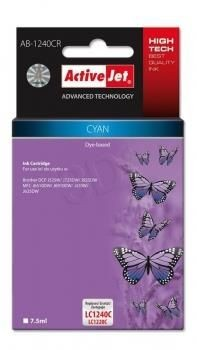 ActiveJet Tusz ActiveJet AB-1240CR   Cyan   7,5 ml   Brother LC1240C, LC1220C