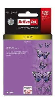 ActiveJet Tusz ActiveJet AB-1240YR | Yellow | 7,5 ml | Brother LC1240Y, LC1220Y