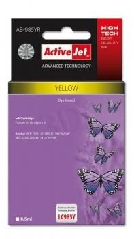 ActiveJet Tusz ActiveJet AB-985YR | Yellow | 8,5 ml | Brother LC985Y