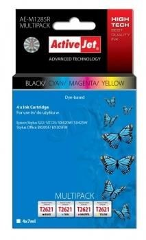 ActiveJet Tusz ActiveJet AE-M1285R | Czarny, Cyan, Magenta, Yellow | 4x7 ml | Epson T1285,