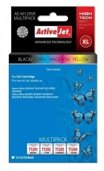 ActiveJet Tusz ActiveJet AE-M1295R | Czarny, Cyan, Magenta, Yellow | 12 ml/ 3x9 ml | Epson