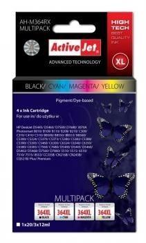 ActiveJet Tusz ActiveJet AH-M364RX | Czarny, Cyan, Magenta, Yellow | 20 ml/ 3x12 ml | HP H