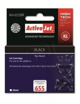 ActiveJet Tusz ActiveJet AH-655BR | Czarny | 20 ml | HP 655 CZ109AE
