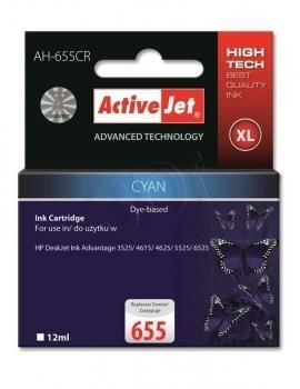 ActiveJet Tusz ActiveJet AH-655CR | Cyan | 12 ml | HP 655 CZ110AE