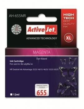 ActiveJet Tusz ActiveJet AH-655MR | Magenta | 12 ml | HP 655 CZ111AE