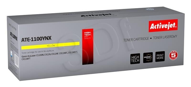 ActiveJet Toner ActiveJet ATE-1100YNX | Yellow | 4000 pp | Epson C13S050187