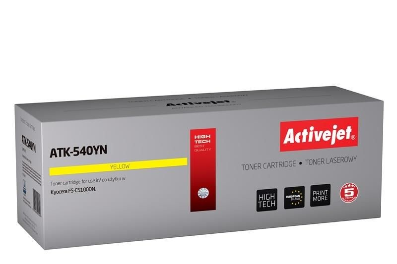 ActiveJet Toner ActiveJet ATK-540YN | Yellow | 4000 pp | KYOCERA TK-540Y