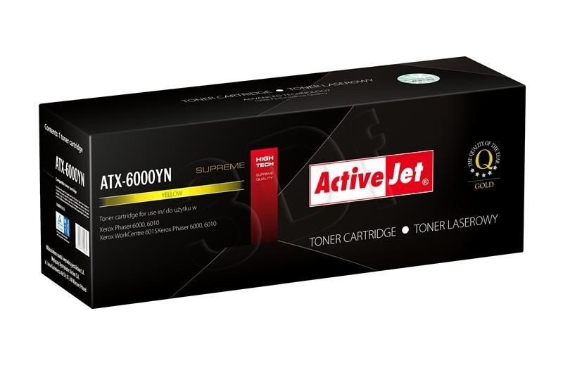 ActiveJet Toner ActiveJet ATX-6000YN | Yellow | 1000 pp | Xerox 106R01633