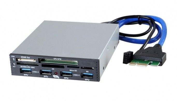 I-BOX CZYTNIK KART I-BOX PCI-EX do USB3.0 CZARNY, WEWNĘTRZNY