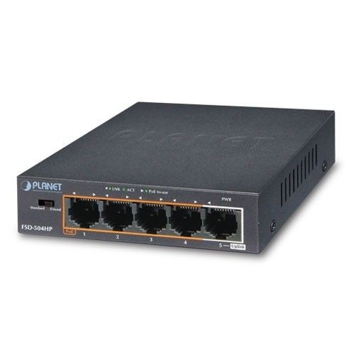 Planet FSD-504HP SWITCH 5-PORT 10/100MBPS 4xPOE