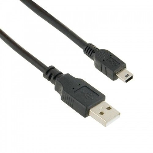 4World Kabel USB 2.0 AM / BM mini, 1,8m, czarny, transmisja i ładowanie