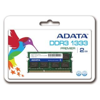 A-Data 2GB 1333MHz DDR3 CL9 SODIMM 1.5 V - Retail