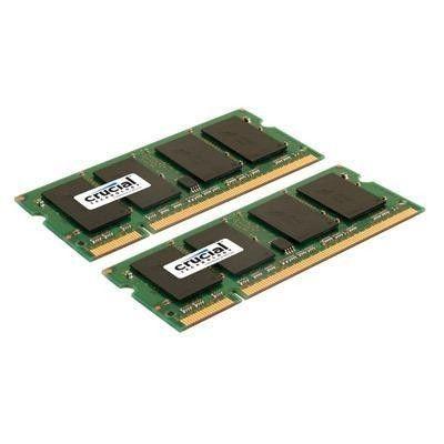 Crucial 2x2GB 800MHz DDR2 CL6 SODIMM 1.8V