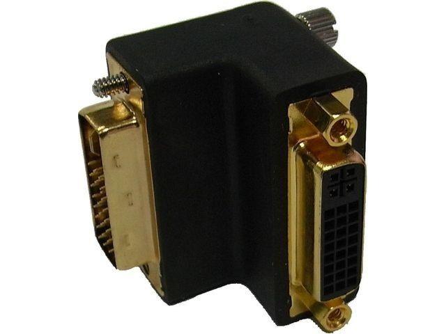 DeLOCK adapter DVI-I(M) 29pin ->DVI-I(F) 29pin kątowy