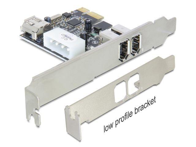 DeLOCK Karta PCI Express FireWire A 2+1 Porty