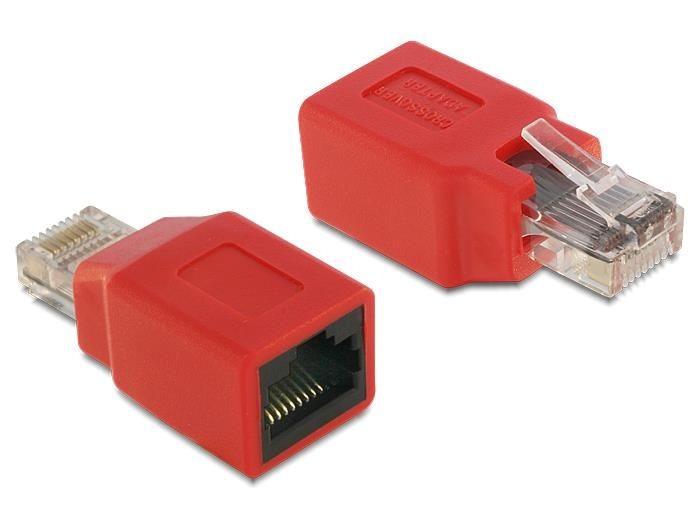 DeLOCK adapter LAN krosujący M/F