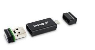 Integral pamięć USB2.0 Fusion 4GB + USB OTG Adapter, RETAIL