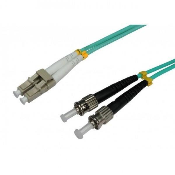 Intellinet Network Solutions Światłowód krosowy ST-LC duplex 3m 50/125 OM3 wielomodowy