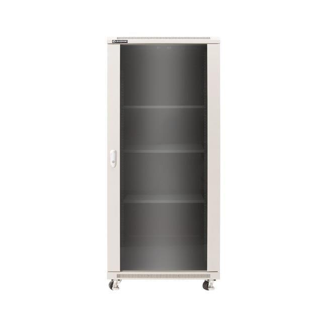 Linkbasic szafa stojąca rack 19'' 42U 600x800mm szara (drzwi przednie szklane)