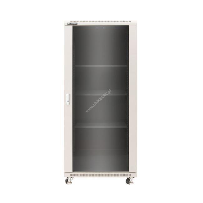 Linkbasic szafa stojąca rack 19'' 42U 600x1000mm szara(drzwi przednie szklane)