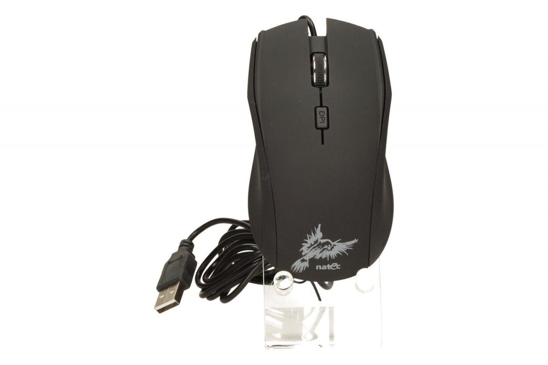 NATEC Mysz optyczna z cichym klikiem KESTREL USB, BLACK