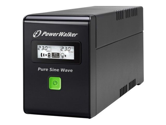 Power Walker UPS LINE-INTERACTIVE 600VA 2X PL 230V, PURE SINE WAVE, RJ11/45 IN/OUT, USB, LCD