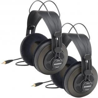 Samson Technologies SR850 profesjonalne otwarte słuchawki studyjne 2-pack | 50mm przetwornik