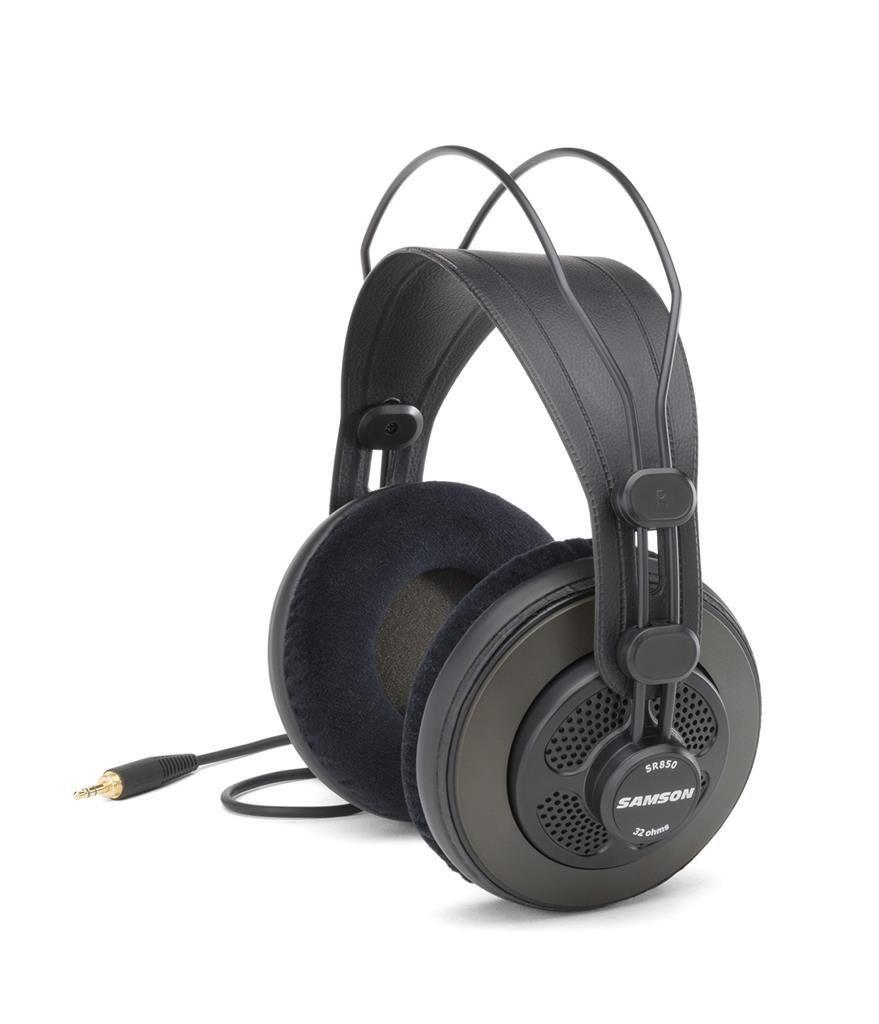Samson Technologies SR850 profesjonalne otwarte słuchawki studyjne | 50mm przetwornik | 32ohm