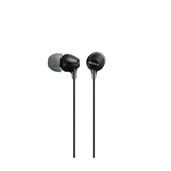 Sony Słuchawki douszne zamknięte czarne SONY MDREX15LPB.AE