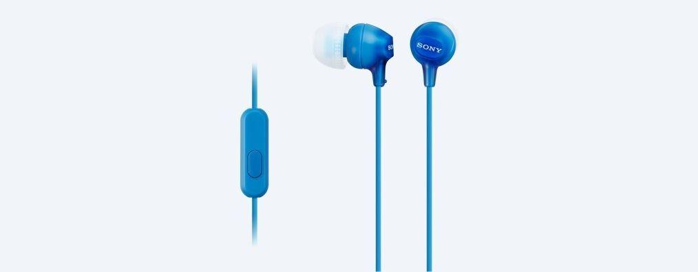 Sony Słuchawki douszne zamknięte niebieskie AP (z mikrofonem)
