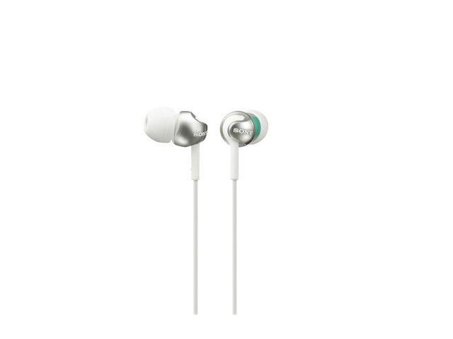 Sony Słuchawki douszne zamknięte, kopulkowa membrana białe SONY