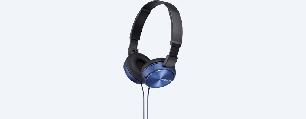 Sony Słuchawki nauszne zamknięte składane, niebieskie SONY MDRZX310L.AE