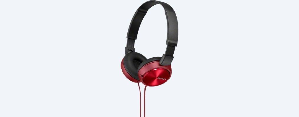 Sony Słuchawki nauszne zamknięte składane , czerwone SONY