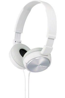 Sony Słuchawki nauszne zamknięte składane, białe SONY MDRZX310W.AE