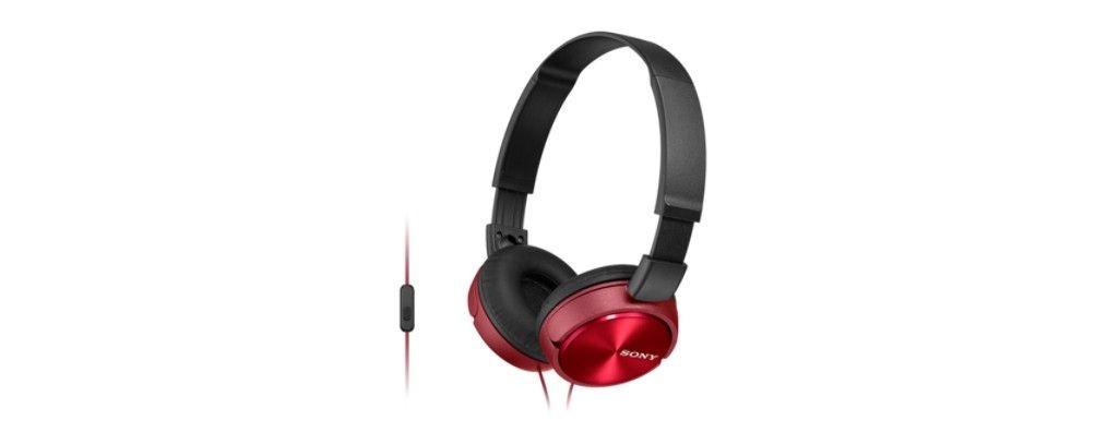 Sony Słuchawki nauszne zamknięte składane czerwone AP (