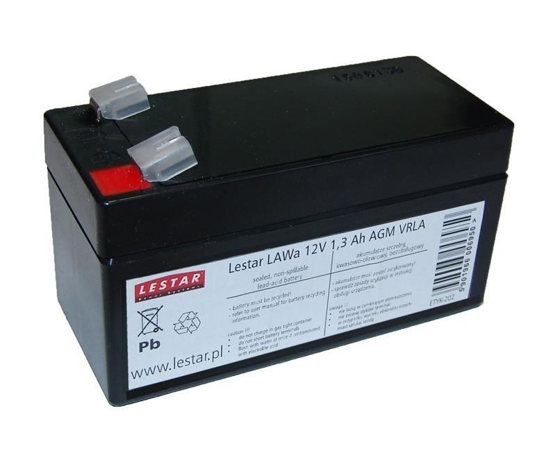 Lestar żelowy akumulator wymienny LAWa 12V 1,3Ah AGM VRLA