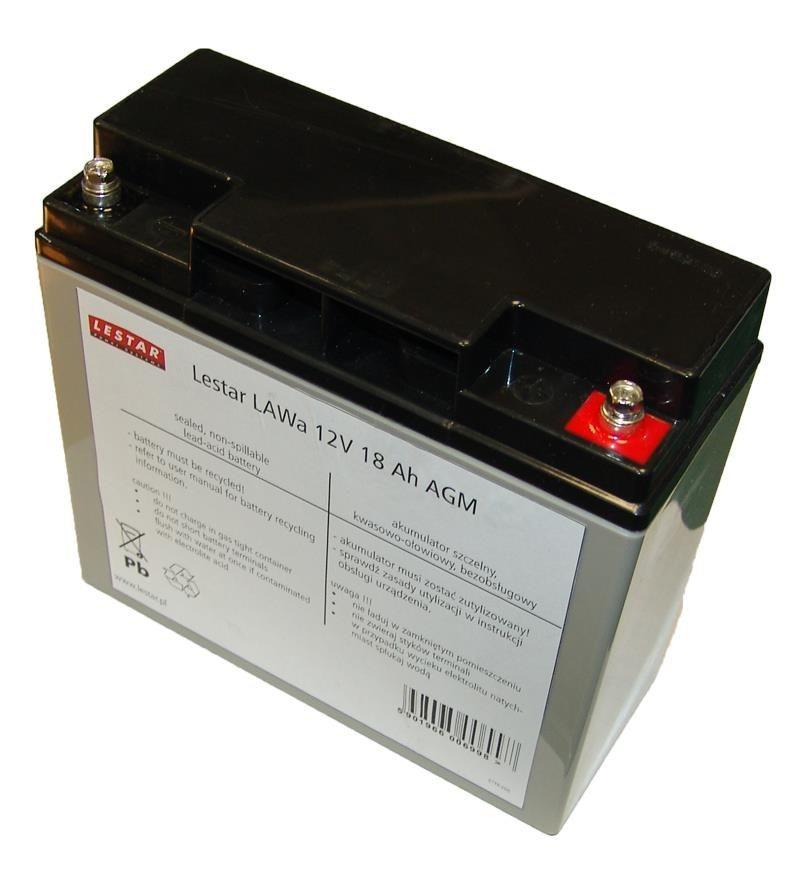 Lestar żelowy akumulator wymienny LAWa 12V 18Ah AGM VRLA