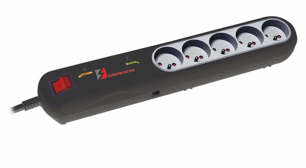 Lestar listwa przeciwprzepięciowa LFT-2005, 3L EMI/RFI, 5m, czarna