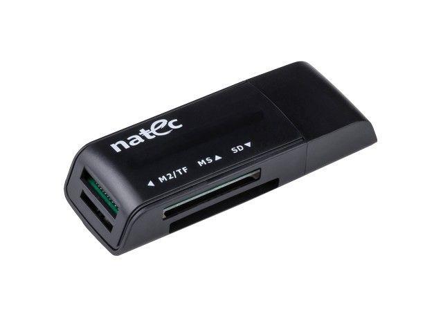 NATEC Czytnik Kart MINI ANT 3 SDHC, MMC, M2, Micro SD, USB 2.0 Black