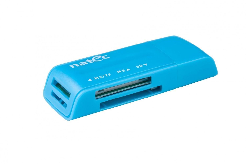 NATEC Czytnik Kart MINI ANT 3 SDHC, MMC, M2, Micro SD, USB 2.0 Blue