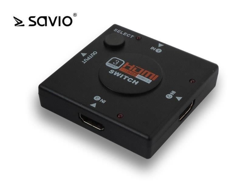 Savio CL-26 HDMI Switch 3 porty, Full HD, blister